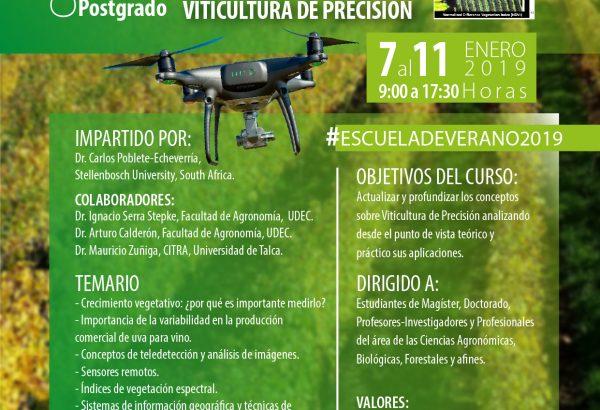 ESCUELA DE VERANO 2019: INTRODUCCIÓN A LA VITICULTURA DE PRECISIÓN